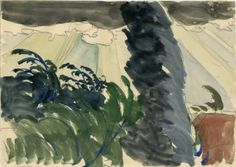 Charles Burchfield - Sun Rays and Windy Tree | From a unique collection of drawings and watercolor paintings at http://www.1stdibs.com/art/drawings-watercolor-paintings/