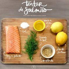 Aprenda como preparar um maravilhoso e saudável Tartar de Salmão com as meninas do Vamos Receber. É maravilhoso! :)