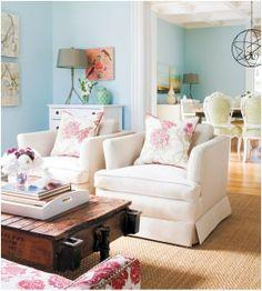 Ambientes relaxantes em azul - leve a praia para dentro do seu lar