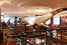 Fabulous food - really fabulous food - just the best fries I've ever eaten!   And also the kitschy dinosaur decor is great!  Jamie Oliver's Diner, 23a Shaftesbury Avenue, London - Reviews - Food & Drink - The Independent