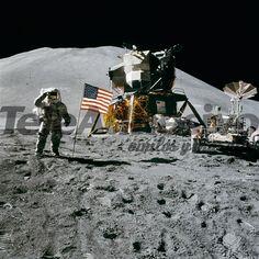Papier peint vinyle marcher sur la lune
