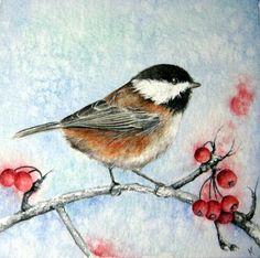 Seasons Change - Original 5 x 5 Watercolour Painting. $60.00, via Etsy.