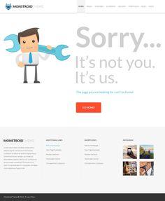 #404Page of #Monstroid Theme: http://www.templatemonster.com/wordpress-themes/monstroid/?utm_source=pinterest&utm_medium=timeline&utm_campaign=submonstr