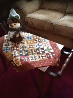This little quilt from Jo Morton Little Women Club I taught at The Village Sampler awhile ago is called Autumn Crossing. It is just perfect for my little table. Debbie Wick