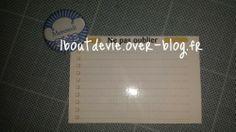 mes post it réutilisables - comment réutiliser mon mémoniak de 2013!