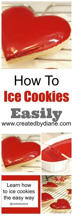 decorated cookies, christmas cookies, icing cookies, How to ice cookies easily www.createdbydiane.com