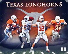 Williams /& Young Autographed 16x20 Texas Longhorns Photo J McCoy Campbell