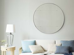If you want a wicked mirror that won't go out of fashion, buy this. Comfy Sofa, Smart Art, Beautiful Mirrors, Your Space, Home Office, Sofas, Wicked, Living Room, Cool Stuff