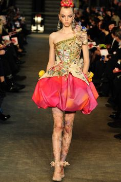 As a fan of embellishment, no one put on a better and more over the top couture show than Christian Lacroix.