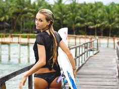 Photos and video of the Worlds hottest Pro surfer girl, Alana Blanchard. Photos of Hot surfer girl. Alana Blanchard, Surfer Girls, Surfer Dude, Kitesurfing, Kundalini Yoga, Hot Surfers, Professional Surfers, Sexy, Bikinis