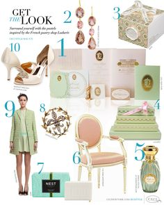 CeciStyle Magazine v75: Get The Look - Paris Perfect - Surround yourself with the pastels inspired by the French pastry shop Ladurée.