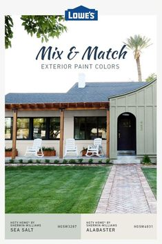 Different color combos can completely refresh any exterior on a budget House Paint Exterior, Exterior Paint Colors, Exterior House Colors, Paint Colors For Home, Exterior Design, Home Exterior Makeover, Exterior Remodel, Pintura Exterior, House Front
