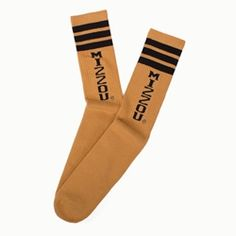 Adidas Mizzou Tigers Gold/Black Tube Socks - don't forget to keep your feet warm at those late fall football games!