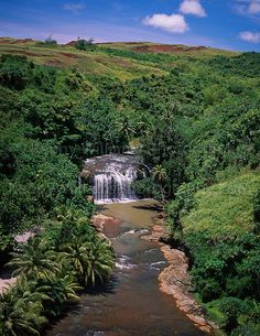 "✯ Talofofo Falls - Guam  Used to go ""hiking"" here with my parents & girl scout troop all the time. HHiking included clearing a path through the jungle with machetes!"