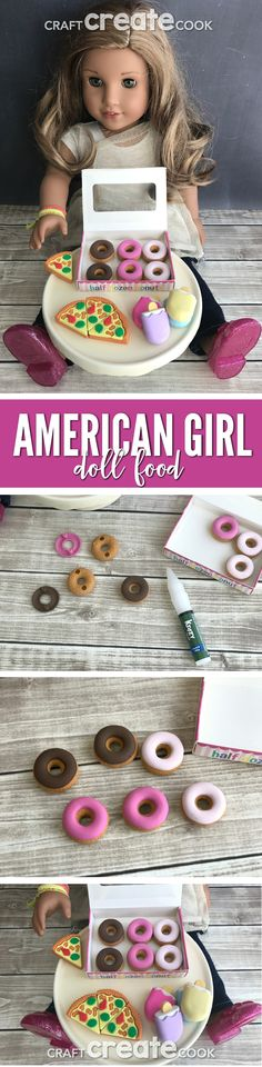 A little creative thinking it all it takes to make this easy DIY American Girl Doll Food.   via @CraftCreatCook1