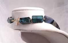 Something Green for St Paddys Day: SALE 20 OFF Blue/Green Serpentine Necklace by kkafineart on Etsy, $23.00