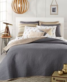 CLOSEOUT! Whim by Martha Stewart Collection Turnabout Storm Cloud Quilts, Only at Macy's - Brought to you by Avarsha.com