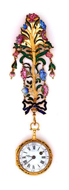 Chatelaine, made in Vienna, Austria,   ca.1760, by Phillip Ernst Schindler,       Gold, enamel