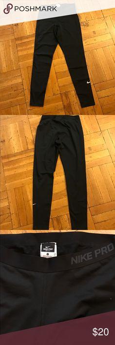 Nike pro leggings Black Nike pro leggings. Worn once. Size Large Nike Pants Leggings