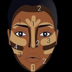 <img> Contorno Facial Para Pele Negra More - Contour Makeup, Contouring And Highlighting, Flawless Makeup, Gorgeous Makeup, Contouring Dark Skin, Contouring Guide, Contour For Dark Skin, How To Contour Your Face, Eye Contour