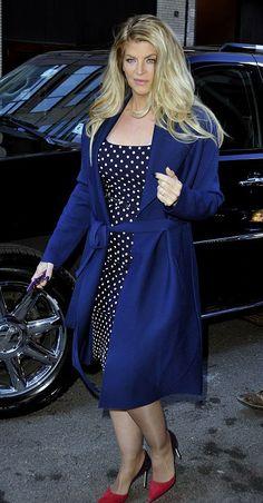 Kirstie Alley wears polka dot Miranda Dress