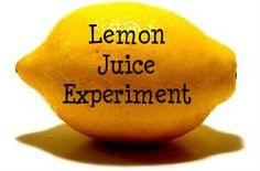 The Snail's Trail: Preschool Science Experiments: Lemon Juice Explosion