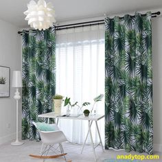 These green leaf curtains are pretty color & pattern, thick, high quality, good workmanship. The privacy curtains look so gorgeous, are great choice for your living room, bedroom or office etc. #GreenCurtains #EmeraldGreenCurtains #GreenBlackoutCurtains #ForestGreenCurtains #GreenDrapes #GreenKitchenCurtains #GreenLeafCurtains #JungleCurtains #PalmLeafCurtains #TropicalCurtains #CurtainsForSale #RoomDarkeningCurtains Leaf Curtains, Baby Room Curtains, Bedroom Drapes, Curtain Room, Kids Curtains, Room Darkening Curtains, Curtains For Sale, Curtain Panels, Privacy Curtains
