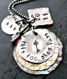Hand Stamped Necklace  Sterling Silver Jewelry  by yourcharmedlife, $58.00