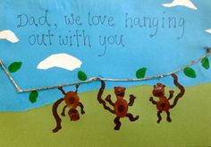 The Monkey Card is perfect for Father's Day, or change the wording to suit any special occasion.