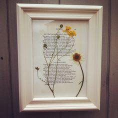 Framed pressed flower art by TwelveTrees87 on Etsy