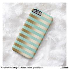 Modern Gold Stripes iPhone 6 case