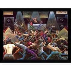 Framed Art Print 'Jump Off' by Frank Morrison 38 x 29-inch