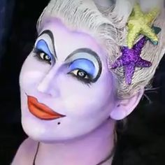 Makeup and How to Style for Girls: URSULA The Sea Witch Halloween Makeup Tutorial