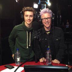 Troyler on RTL 102.5 the Italy radio show!! <3