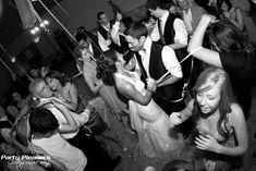 Couple dances under a streamer shot  Photo Credit- Kim Greer  #CincinnatiWedding #PartyPleasers #Streamershot