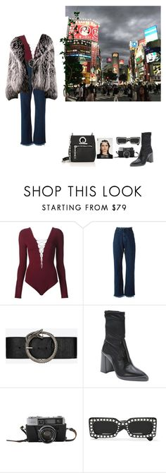 """""""Untitled #207"""" by liliakorobkina ❤ liked on Polyvore featuring T By Alexander Wang, Marques'Almeida, Yves Saint Laurent, Prada, Gucci and Alexander Wang"""