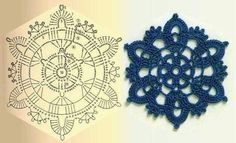 Snowflake crochet diagram