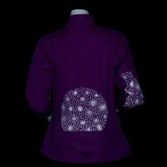 Add some bright color and a pretty, reflective dandelion print to a gray day with our technical softshell jacket. Softshell, Dandelion, Jackets For Women, Bright, Gray, Knitting, Pretty, Sweaters, Fabric