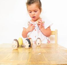 Emotional Eggs - Wooden Toys -  toddler gift - Educational Tool for Teaching Emotions. $32.00, via Etsy.