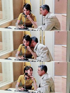 Audrey Hepburn, Cary Grant in Charade, When he does this and you have to behave on the mobile phone ; Audrey Hepburn Charade, Audrey Hepburn Photos, Audrey Hepburn Style, Golden Age Of Hollywood, Classic Hollywood, Old Hollywood, Charade 1963, Viejo Hollywood, Charades