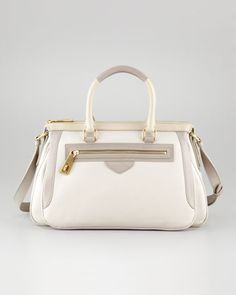 The Ziplocker Satchel Bag, Cream by MARC by Marc Jacobs at Neiman Marcus.
