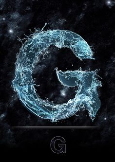 A complete capital letter font-set of water! S Letter Images, Alphabet Images, Letter Art, Tattoo Lettering Styles, Lettering Design, Apple Wallpaper, Galaxy Wallpaper, Night Scenery, Alphabet Wallpaper
