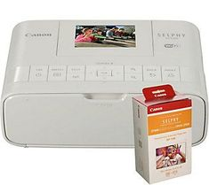 Canon SELPHY Wireless/Airprint Photo Printer w/Ink, Paper