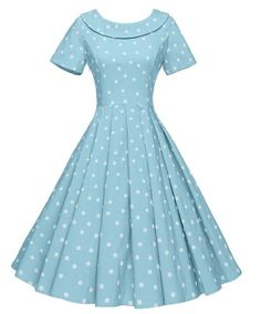 GownTown Women's Polka Dot Vintage Dresses Audrey H. Vintage Dresses 50s, Retro Dress, Vintage Outfits, Vintage Fashion, Pretty Dresses, Beautiful Dresses, Pretty Clothes, Jw Mode, Vintage Mode
