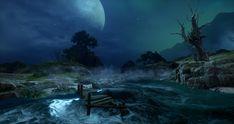 Dragon Age Inquisition Jaws of Hakkon Island, Shawn Kassian on ArtStation at https://www.artstation.com/artwork/b54NE