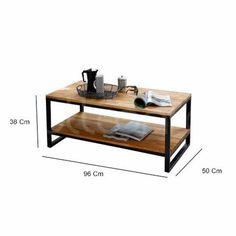 mesa ratona hierro madera living sofá brickmaker c/estante Iron Furniture, Steel Furniture, Refurbished Furniture, Living Furniture, Upcycled Furniture, Home Decor Furniture, Wooden Furniture, Diy Home Decor, Furniture Design