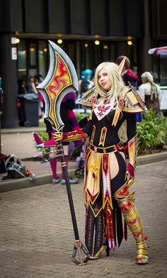World of Warcraft ~ Blood Elf Paladin by Kamui Cosplay Cosplay Armor, Epic Cosplay, Amazing Cosplay, Cosplay Girls, Naruto Cosplay, Cosplay Diy, Anime Cosplay, Cosplay Ideas, Cool Costumes