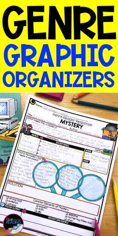 Genre graphic organizers are a helpful resource for students in independent reading response. Place in a classroom reading nook for students to use as a reading support for each of the literary genres. Among the genres are a biography graphic organizer, elements of mystery, fantasy, historical fiction, and nonfiction texts. Use with reading bulletin board displaying genre posters or genre anchor charts and a classroom library genre labels to boost students understanding of each type of… Reading Genres, Reading Posters, Reading Passages, Reading Resources, Reading Nook, Guided Reading, Graphic Organizer For Reading, Graphic Organizers, Genre Anchor Charts