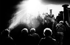 Trent Parke, AUSTRALIA. Sydney. Sydneysiders leave an open air concert at the Sydney Opera House, Bennalong Point. From Dream/Life series. 1999.