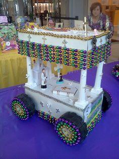 mardi gras wagon float ideas | Mardi Gras Oakwood Center in Terrytown sponsors annual shoebox ... - DIY @ Craft's
